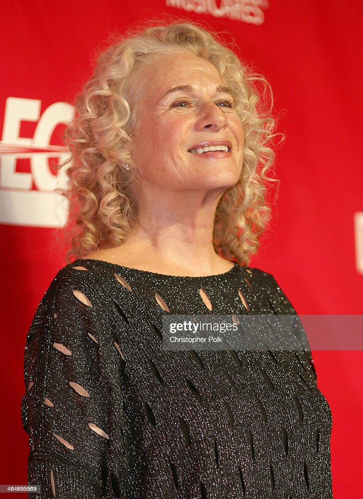 Honoree <a gi-track='captionPersonalityLinkClicked' href=/galleries/search?phrase=Carole+King+-+Musician&family=editorial&specificpeople=211440 ng-click='$event.stopPropagation()'>Carole King</a> attends 2014 MusiCares Person Of The Year Honoring <a gi-track='captionPersonalityLinkClicked' href=/galleries/search?phrase=Carole+King+-+Musician&family=editorial&specificpeople=211440 ng-click='$event.stopPropagation()'>Carole King</a> at Los Angeles Convention Center on January 24, 2014 in Los Angeles, California.