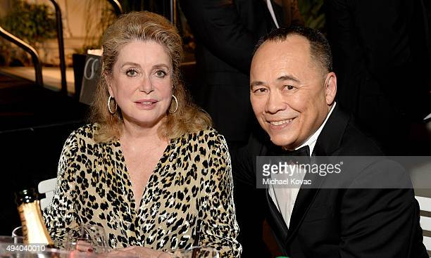 Honoree Catherine Deneuve and HECFF Vice President Chris Lee attend the 6th Annual Hawaii European Cinema Film Festival Awards Gala at The Moana...