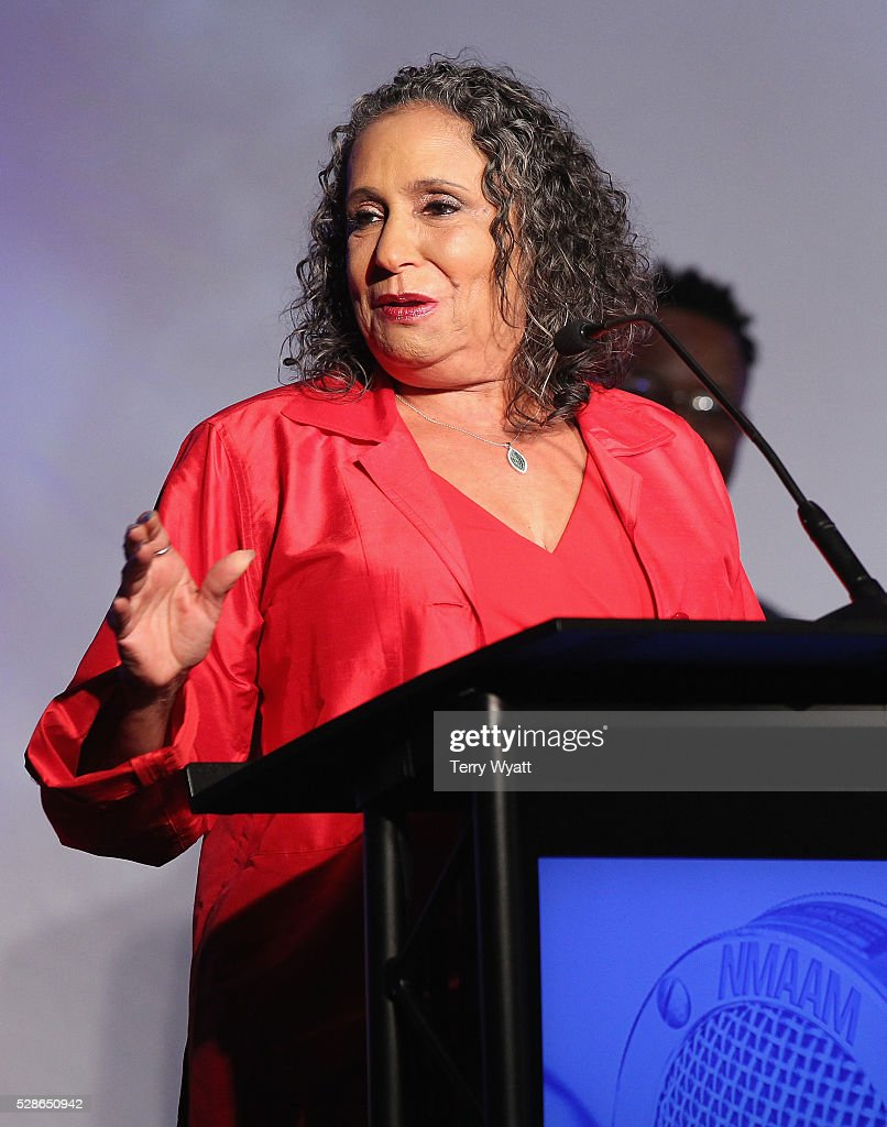 Honoree <a gi-track='captionPersonalityLinkClicked' href=/galleries/search?phrase=Cathy+Hughes&family=editorial&specificpeople=2614707 ng-click='$event.stopPropagation()'>Cathy Hughes</a>, TV One/Radio One Chairman speaks onstage during NMAAM's Celebration Of Legends Red Carpet And Luncheon on May 6, 2016 in Nashville, Tennessee.