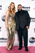 Honoree Celine Dion and DJ Khaled pose in the press room during the 2016 Billboard Music Awards at TMobile Arena on May 22 2016 in Las Vegas Nevada