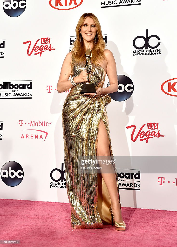Honoree Celine Dion poses in the press room during the 2016 Billboard Music Awards at T-Mobile Arena on May 22, 2016 in Las Vegas, Nevada.