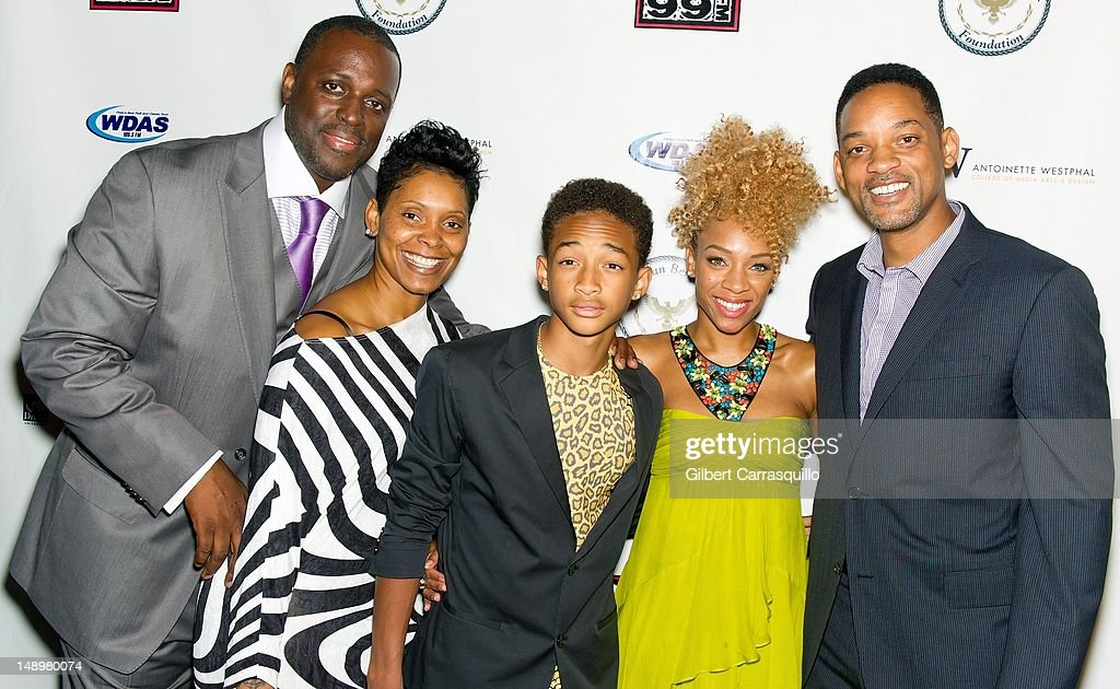 Honoree Charles 'Charlie Mack' Alston and fiancee, actor Jaden Smith, Lil' Mama and actor Will Smith attend the American Benefactor Foundation 'I WILL Be Great Leaders' Ceremony honoring Charles Alston at Drexel University on July 20, 2012 in Philadelphia, Pennsylvania.