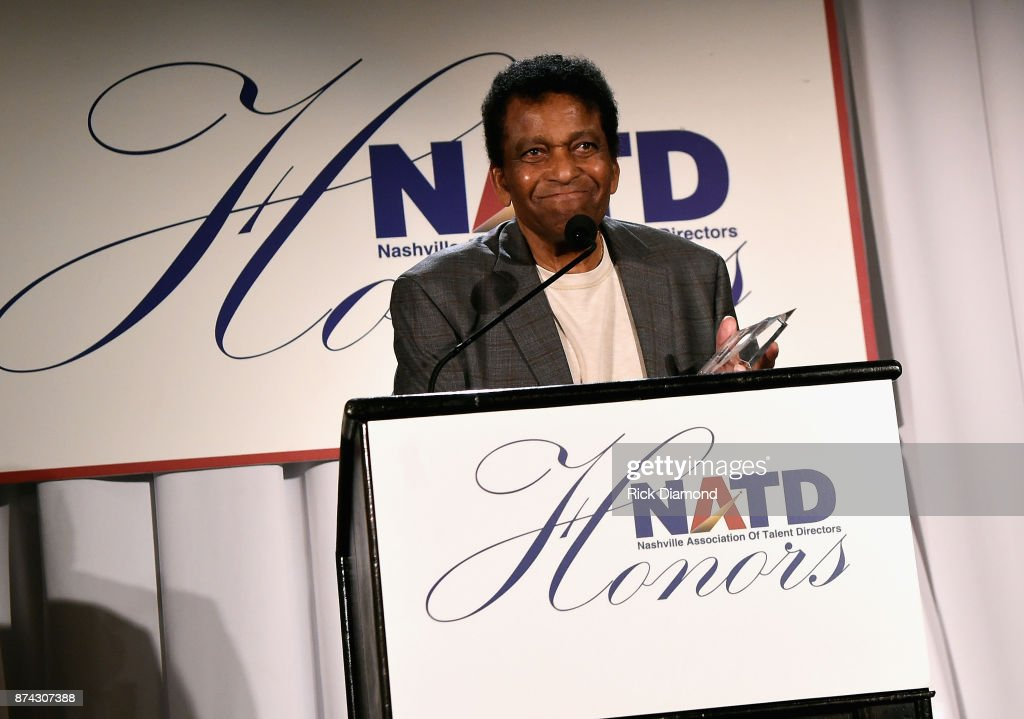Honoree Charley Pride accepts an award onstage during the 2017 NATD Honors Gala at Hermitage Hotel on November 14, 2017 in Nashville, Tennessee.