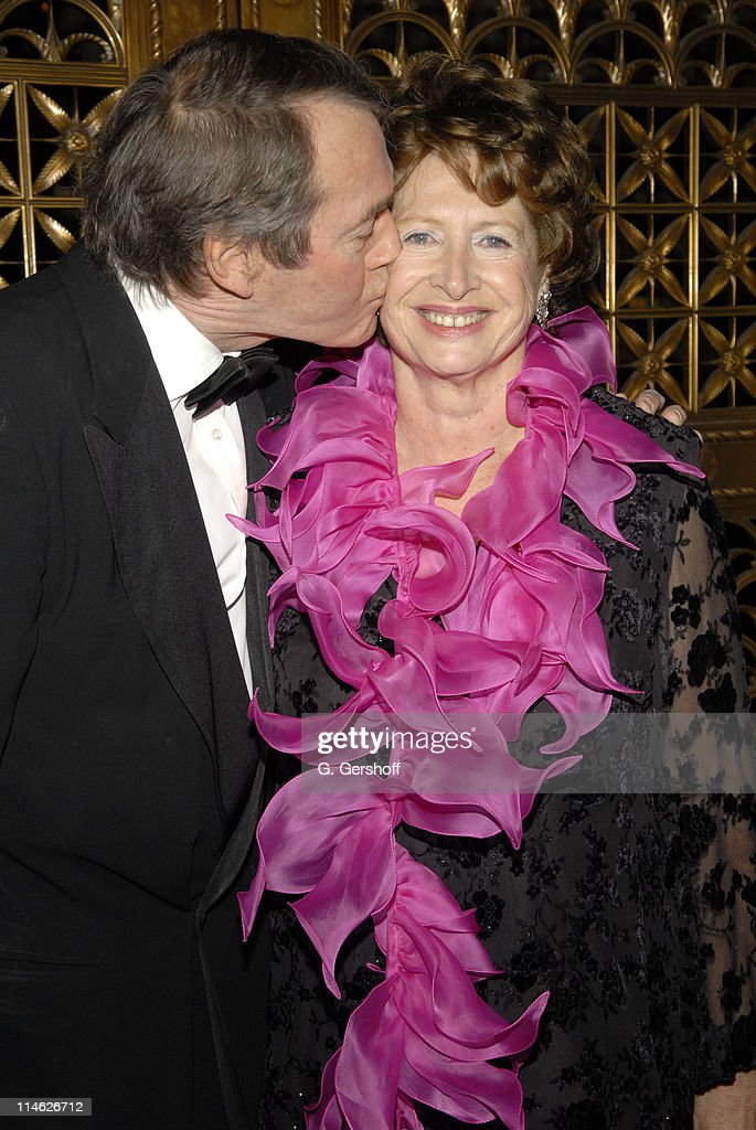 Honoree Charlie Rose and MarieMonique Steckel President of the French Institute Alliance Francais