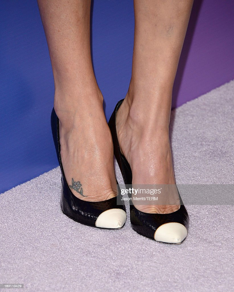 Honoree Charlize Theron (shoe detail) arrives at Variety's 5th Annual Power of Women event presented by Lifetime at the Beverly Wilshire Four Seasons Hotel on October 4, 2013 in Beverly Hills, California.