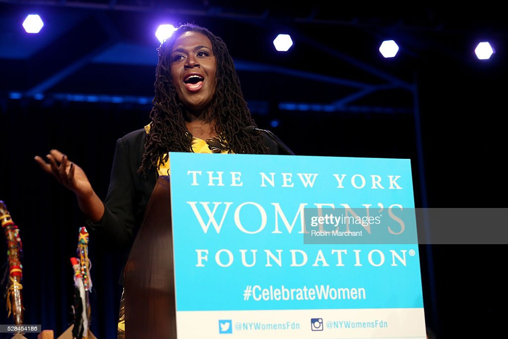 Honoree Cherno Biko speaks on stage during The New York Women's Foundation's 2016 celebration womens breakfast on May 5, 2016 in New York City.
