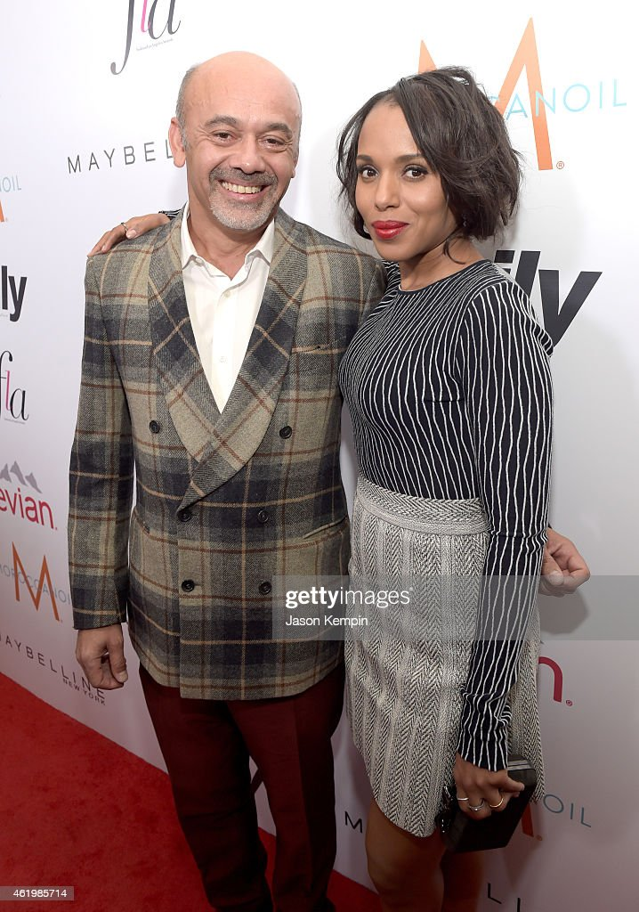 Honoree Christian Louboutin and Kerry Washington attend The DAILY FRONT ROW 'Fashion Los Angeles Awards' Show at Sunset Tower on January 22 2015 in...