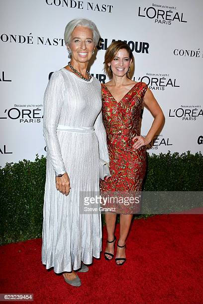 Honoree Christine Lagarde and Glamour EditorinChief Cindi Leive attend Glamour Women Of The Year 2016 at NeueHouse Hollywood on November 14 2016 in...