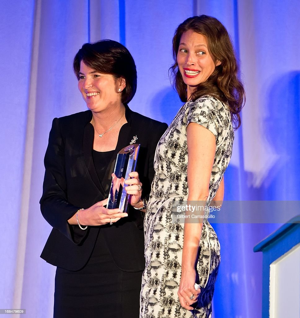 Honoree <a gi-track='captionPersonalityLinkClicked' href=/galleries/search?phrase=Christy+Turlington&family=editorial&specificpeople=207046 ng-click='$event.stopPropagation()'>Christy Turlington</a> Burns (R) is presented with The Lucretia Mott Award at the 36th Annual Women's Way Powerful Voice Awards honoring <a gi-track='captionPersonalityLinkClicked' href=/galleries/search?phrase=Christy+Turlington&family=editorial&specificpeople=207046 ng-click='$event.stopPropagation()'>Christy Turlington</a> Burns at the Sheraton Philadelphia Downtown Hotel on May 9, 2013 in Philadelphia, Pennsylvania.