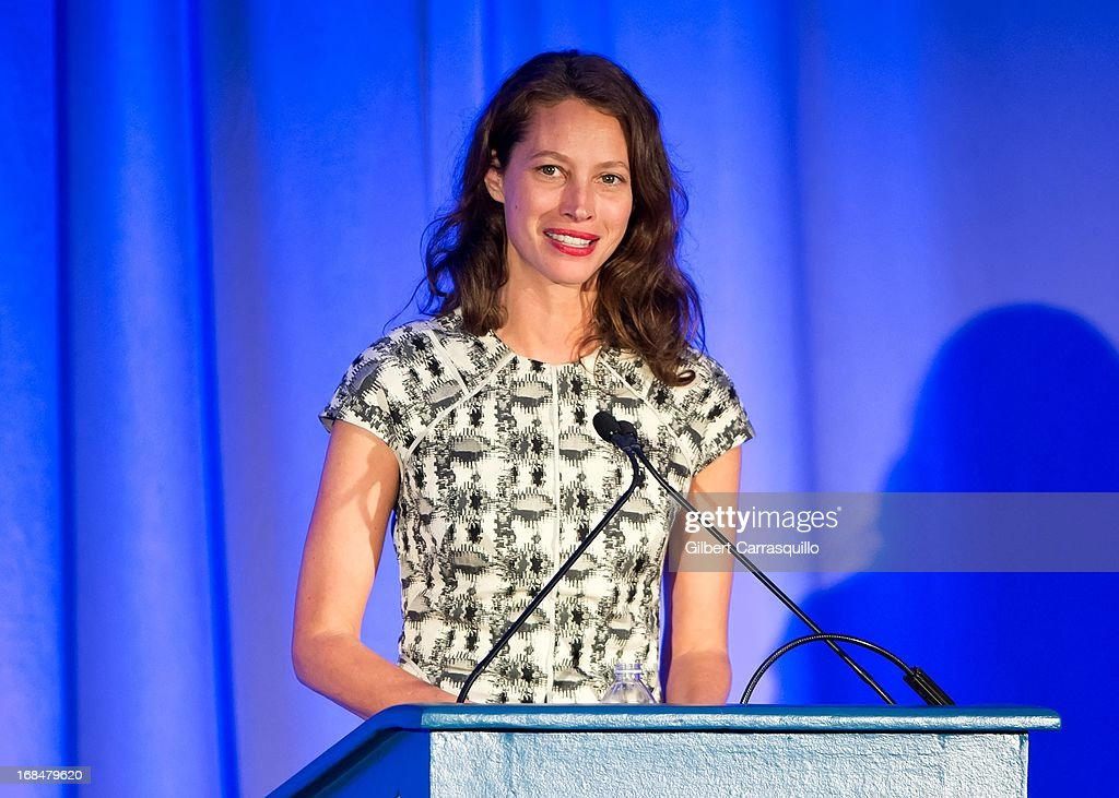 Honoree Christy Turlington Burns speaks at the 36th Annual Women's Way Powerful Voice Awards honoring Christy Turlington Burns at the Sheraton Philadelphia Downtown Hotel on May 9, 2013 in Philadelphia, Pennsylvania.