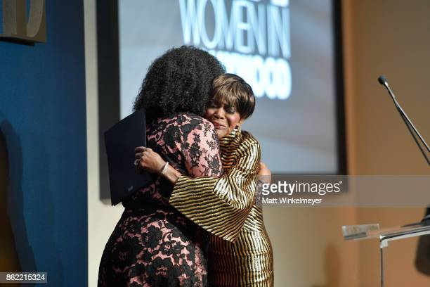 Honoree Cicely Tyson accepts award from Shonda Rhimes onstage at ELLE's 24th Annual Women in Hollywood Celebration presented by L'Oreal Paris Real Is...