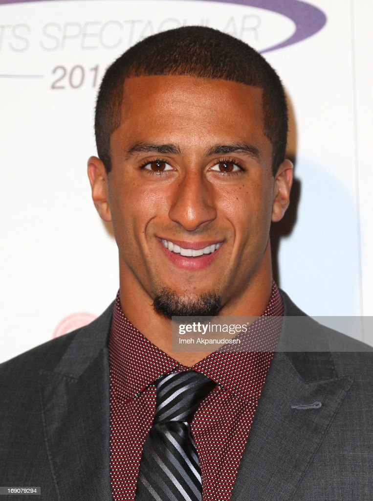 Honoree <a gi-track='captionPersonalityLinkClicked' href=/galleries/search?phrase=Colin+Kaepernick&family=editorial&specificpeople=5525694 ng-click='$event.stopPropagation()'>Colin Kaepernick</a> of the San Fransisco 49ers attends the 28th Anniversary Sports Spectacular Gala at the Hyatt Regency Century Plaza on May 19, 2013 in Century City, California.