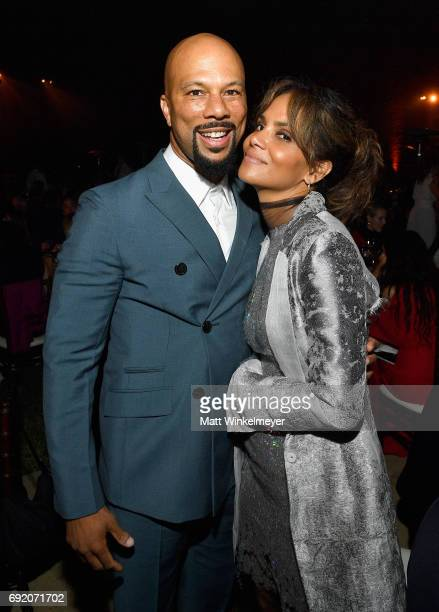 Honoree Common and Actor Halle Berry at the 16th Annual Chrysalis Butterfly Ball on June 3 2017 in Los Angeles California