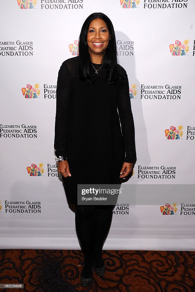 Honoree Cookie Johnson attends the Elizabeth Glaser Global Champions of a Mothers Fight Awards Dinner at Mandarin Oriental Hotel on February 20, 2013 in New York City.