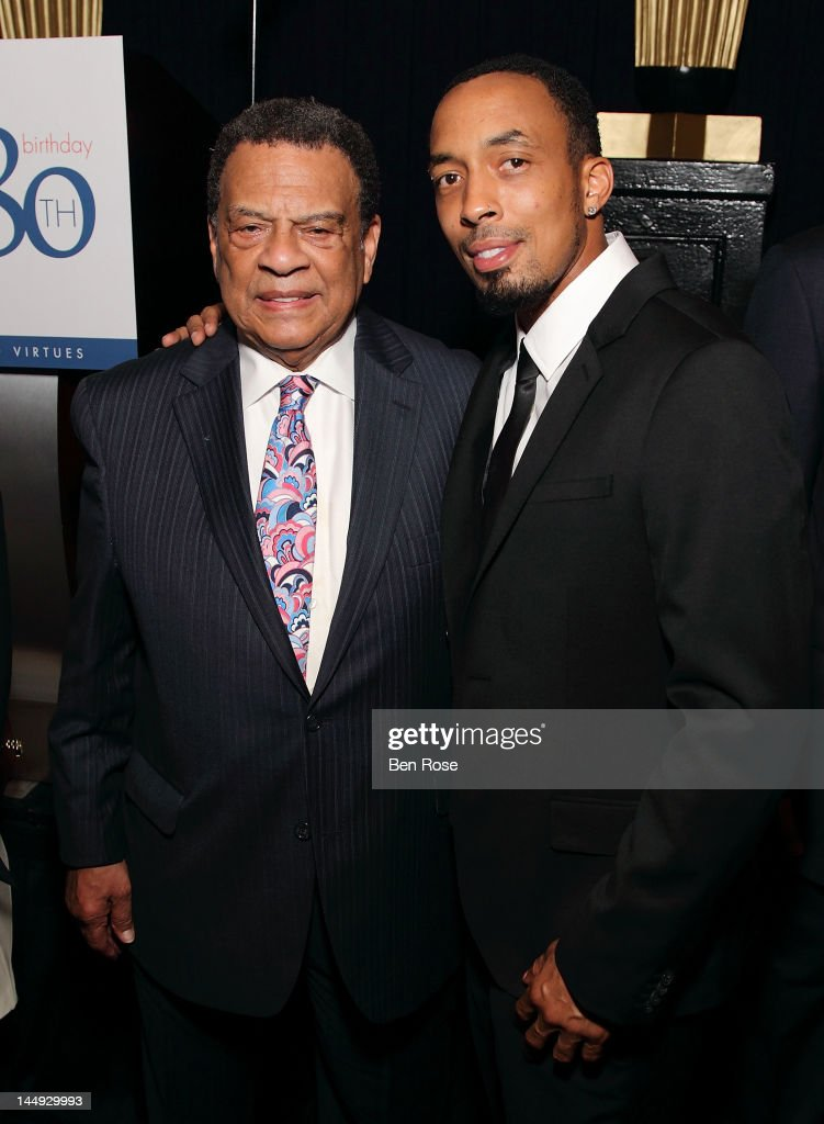 Honoree <a gi-track='captionPersonalityLinkClicked' href=/galleries/search?phrase=Dallas+Austin&family=editorial&specificpeople=226532 ng-click='$event.stopPropagation()'>Dallas Austin</a> poses with Former Ambassador <a gi-track='captionPersonalityLinkClicked' href=/galleries/search?phrase=Andrew+Young+-+Politician&family=editorial&specificpeople=13781909 ng-click='$event.stopPropagation()'>Andrew Young</a> during The <a gi-track='captionPersonalityLinkClicked' href=/galleries/search?phrase=Andrew+Young+-+Politician&family=editorial&specificpeople=13781909 ng-click='$event.stopPropagation()'>Andrew Young</a> Foundation's celebration of the 80th birthday of <a gi-track='captionPersonalityLinkClicked' href=/galleries/search?phrase=Andrew+Young+-+Politician&family=editorial&specificpeople=13781909 ng-click='$event.stopPropagation()'>Andrew Young</a> at The Hyatt Regency Atlanta on May 20, 2012 in Atlanta, Georgia.