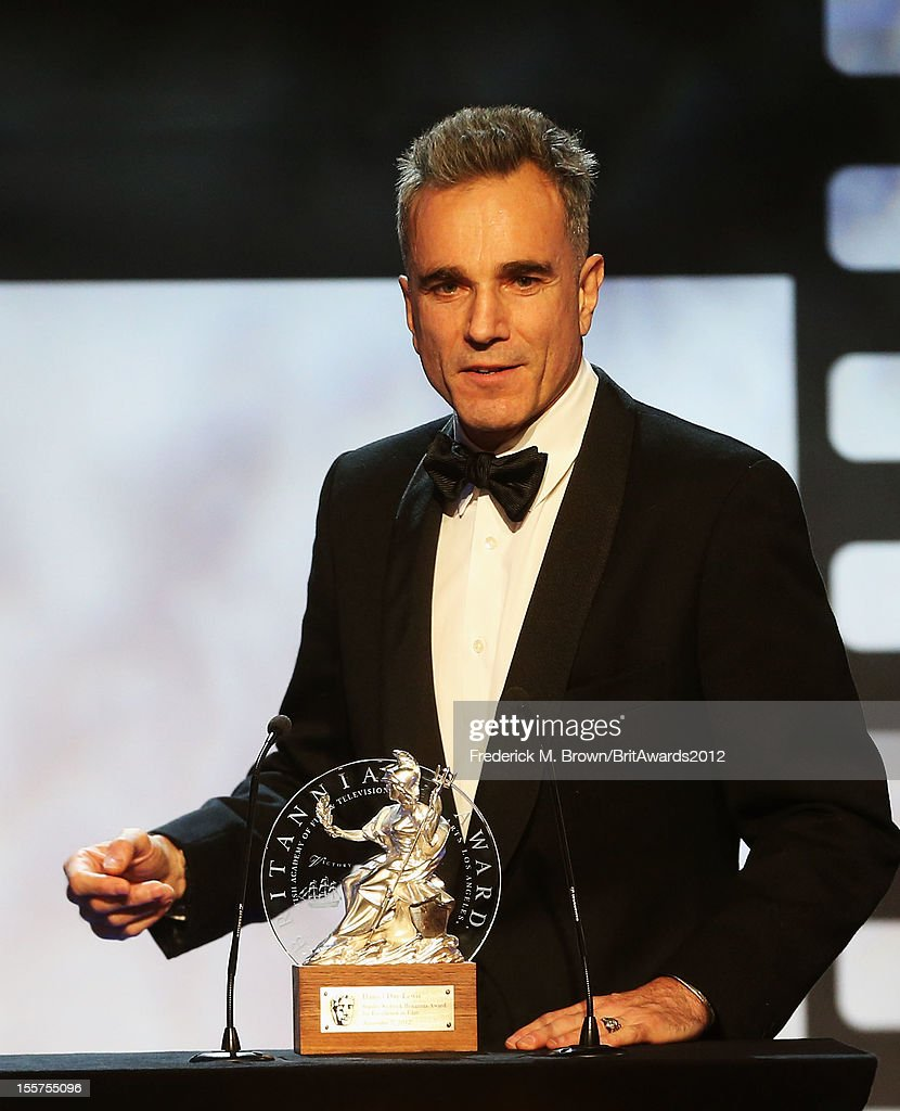 Honoree Daniel Day-Lewis accepts The Stanley Kubrick Britannia Award for Excellence in Film onstage at the 2012 BAFTA Los Angeles Britannia Awards Presented By BBC AMERICA at The Beverly Hilton Hotel on November 7, 2012 in Beverly Hills, California.