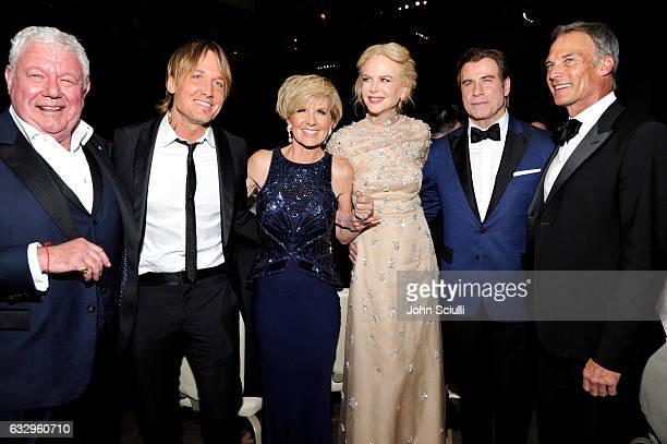Honoree David Hill musician Keith Urban Australia's Foreign Minister Julie Bishop actress Nicole Kidman actor John Travolta and David Panton attend...