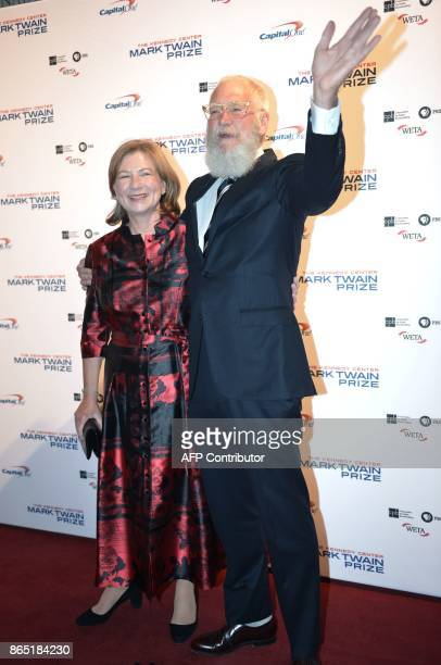 Honoree David Letterman and his wife Regina Lasko arrive for the 20th Annual Mark Twain Prize for American Humor at the Kennedy Center in Washington...