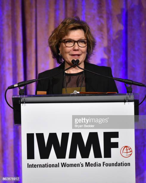 Honoree Deborah Amos speaks onstage at The International Women's Media Foundation's 28th Annual Courage In Journalism Awards Ceremony at Cipriani...