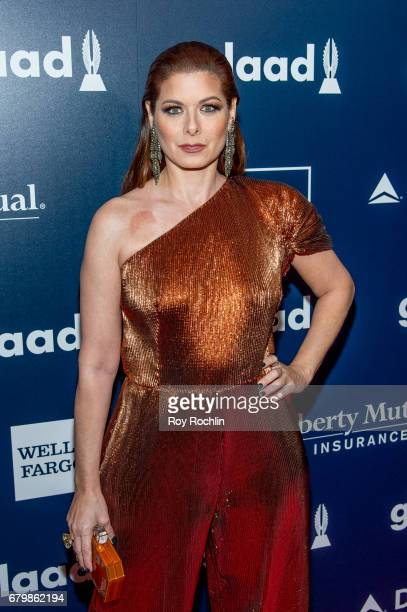 Honoree Debra Messing attends the 28th Annual GLAAD Awards at New York Hilton Midtown on May 6 2017 in New York City