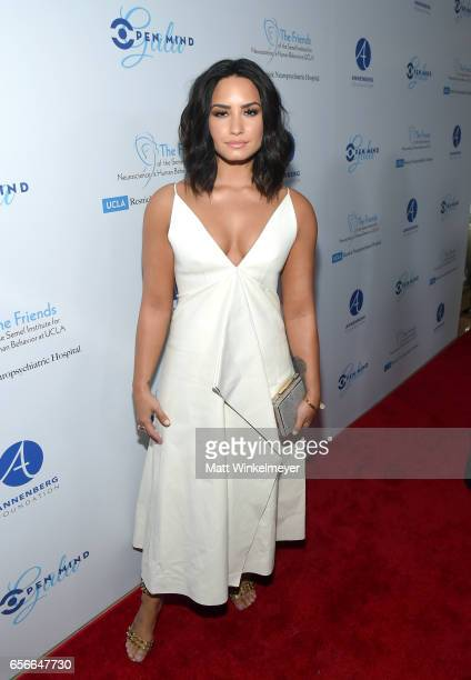 Honoree Demi Lovato attends UCLA Semel Institute's 'Open Mind Gala' at The Beverly Hilton Hotel on March 22 2017 in Beverly Hills California