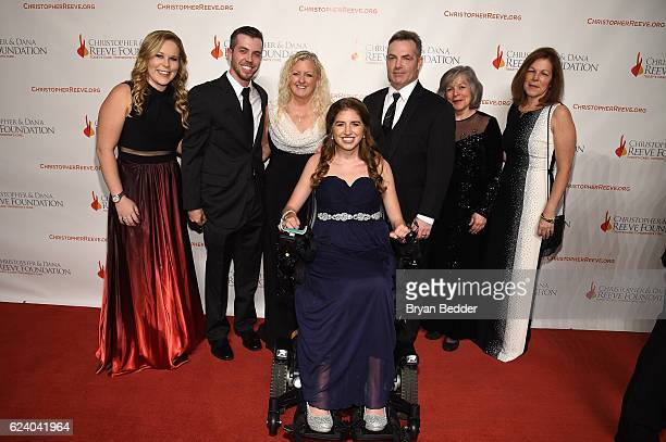 Honoree Denna Laing attends the Christopher Dana Reeve Foundation hosts 'A Magical Evening' at Cipriani Wall Street on November 17 2016 in New York...