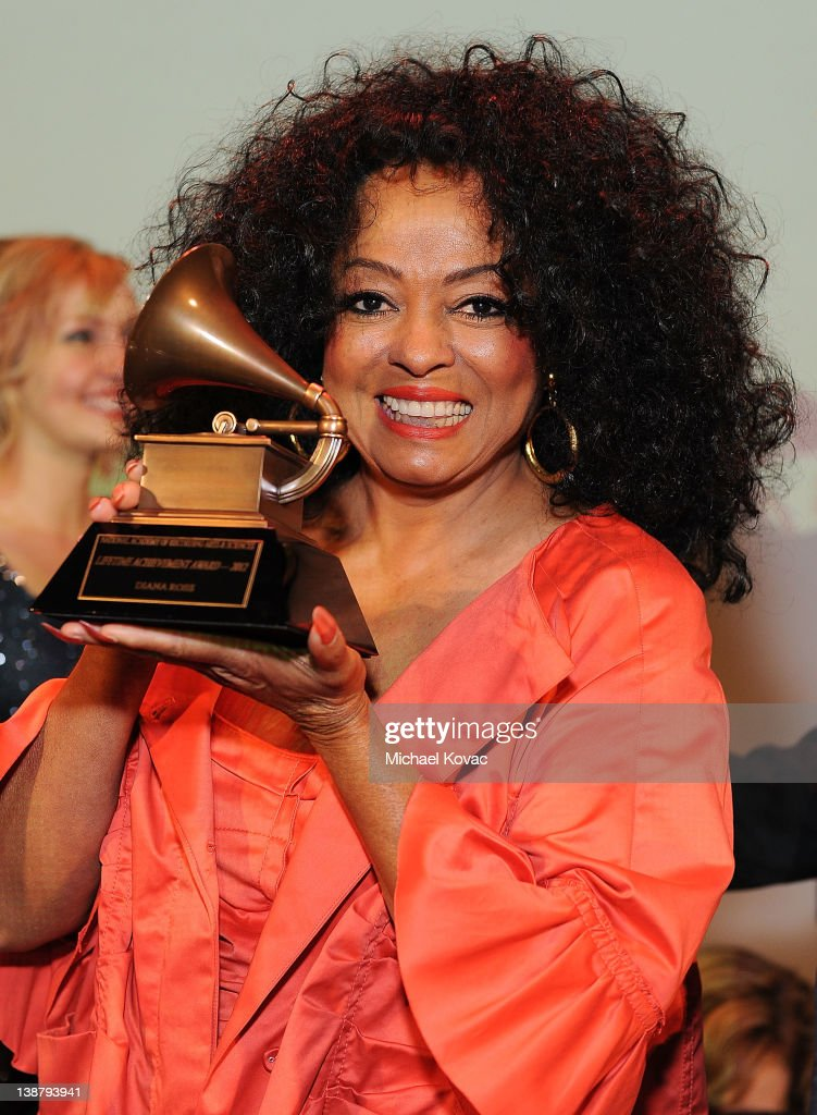 Honoree Diana Ross accepts the Lifetime Achievement award during The 54th Annual GRAMMY Awards Special Merit Awards Ceremony and Nominee Reception at The Wilshire Ebell Theatre on February 11, 2012 in Los Angeles, California.