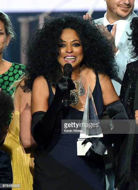 Honoree Diana Ross accepts the Lifetime Achievement award onstage during the 2017 American Music Awards at Microsoft Theater on November 19 2017 in...
