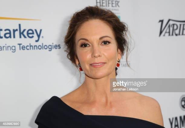 Honoree Diane Lane attends Heifer International's 3rd Annual 'Beyond Hunger A Place At The Table' Gala at Montage Beverly Hills on August 22 2014 in...