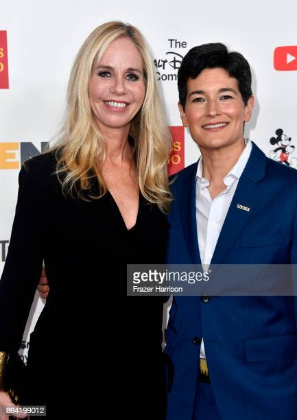 Honoree Diane Nelson and Executive Director GLSEN Eliza Byard at the 2017 GLSEN Respect Awards at the Beverly Wilshire Four Seasons Hotel on October...