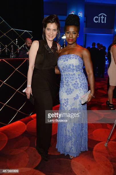 Honoree Diane Paulus and actress Uzo Aduba attend the TIME 100 Gala TIME's 100 most influential people in the world at Jazz at Lincoln Center on...