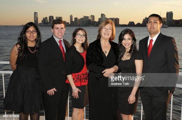 Honoree Dr Patricia C Wright and Stony Brook University students attend the Stars of Stony Brook Gala 2014 at Chelsea Piers on April 16 2014 in New...