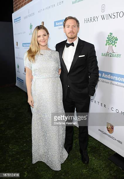 Honoree Drew Barrymore and Will Kopelman attend the second annual Baby2Baby Gala honoring Drew Barrymore at Book Bindery on November 9 2013 in Culver...
