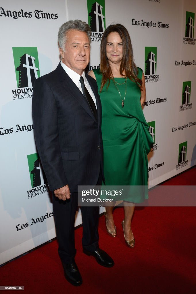 Honoree <a gi-track='captionPersonalityLinkClicked' href=/galleries/search?phrase=Dustin+Hoffman&family=editorial&specificpeople=171356 ng-click='$event.stopPropagation()'>Dustin Hoffman</a> and Lisa Gottsegen arrive at the 16th Annual Hollywood Film Awards Gala presented by The Los Angeles Times held at The Beverly Hilton Hotel on October 22, 2012 in Beverly Hills, California.