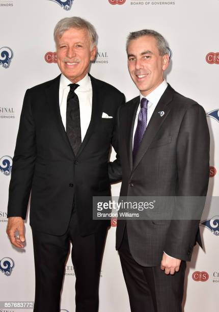 Honoree E Stanley Kroenke and COO of the Los Angeles Rams Kevin Demoff attends the 2017 CedarsSinai Board of Governors Gala at The Beverly Hilton...