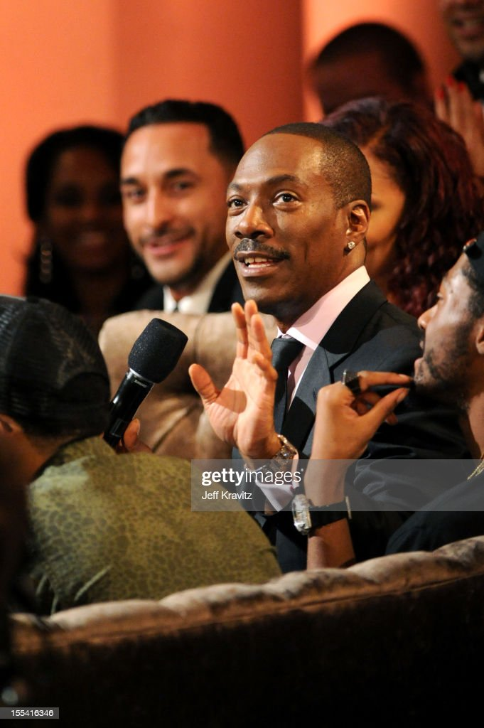 Honoree <a gi-track='captionPersonalityLinkClicked' href=/galleries/search?phrase=Eddie+Murphy&family=editorial&specificpeople=203093 ng-click='$event.stopPropagation()'>Eddie Murphy</a> in the audience at Spike TV's '<a gi-track='captionPersonalityLinkClicked' href=/galleries/search?phrase=Eddie+Murphy&family=editorial&specificpeople=203093 ng-click='$event.stopPropagation()'>Eddie Murphy</a>: One Night Only' at the Saban Theatre on November 3, 2012 in Beverly Hills, California.