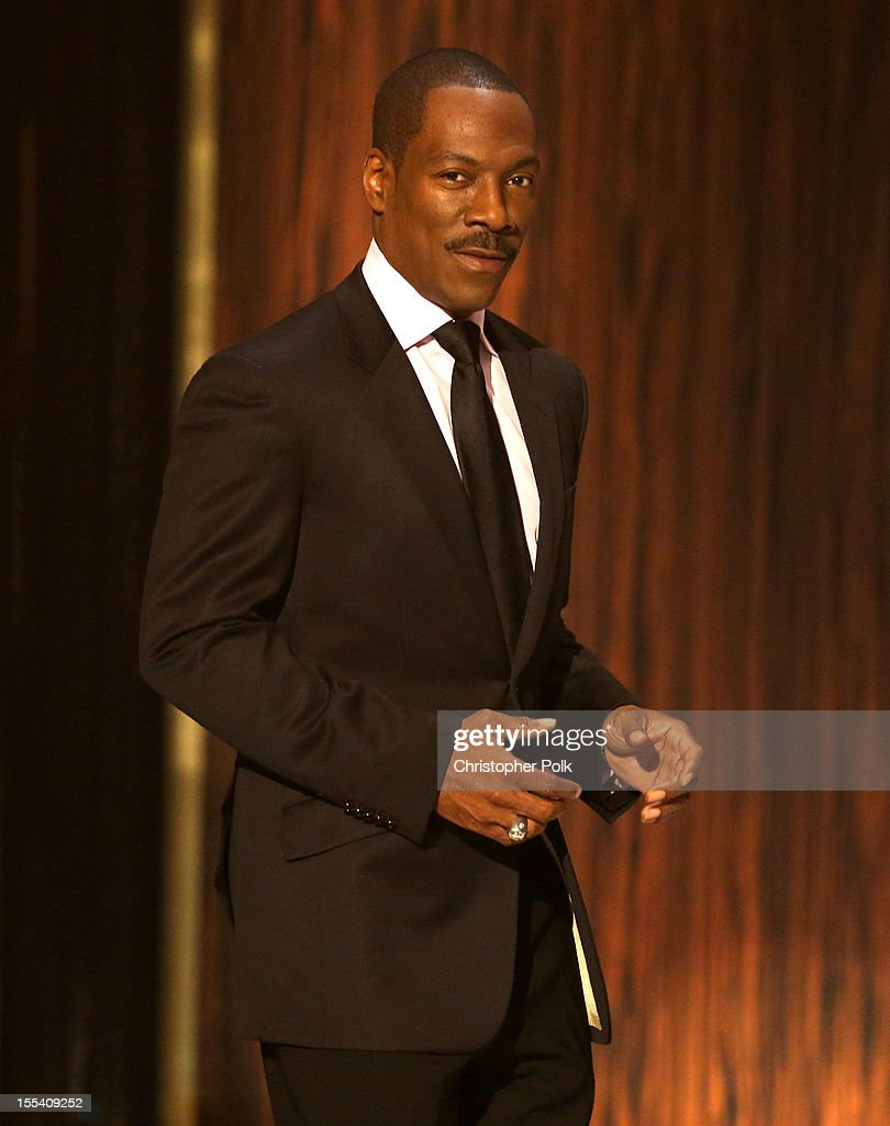 Honoree <a gi-track='captionPersonalityLinkClicked' href=/galleries/search?phrase=Eddie+Murphy&family=editorial&specificpeople=203093 ng-click='$event.stopPropagation()'>Eddie Murphy</a> onstage at Spike TV's '<a gi-track='captionPersonalityLinkClicked' href=/galleries/search?phrase=Eddie+Murphy&family=editorial&specificpeople=203093 ng-click='$event.stopPropagation()'>Eddie Murphy</a>: One Night Only' at the Saban Theatre on November 3, 2012 in Beverly Hills, California.
