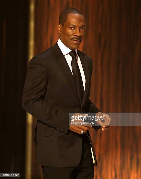 Honoree Eddie Murphy onstage at Spike TV's 'Eddie Murphy One Night Only' at the Saban Theatre on November 3 2012 in Beverly Hills California