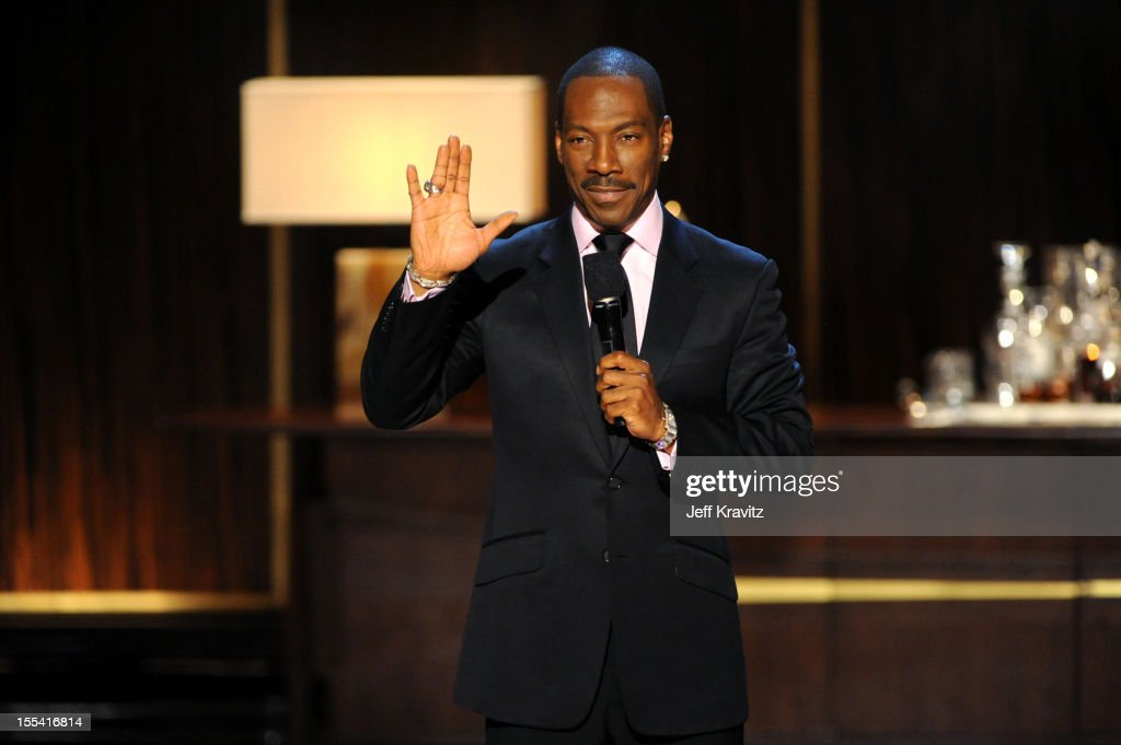Honoree <a gi-track='captionPersonalityLinkClicked' href=/galleries/search?phrase=Eddie+Murphy&family=editorial&specificpeople=203093 ng-click='$event.stopPropagation()'>Eddie Murphy</a> speaks onstage at Spike TV's '<a gi-track='captionPersonalityLinkClicked' href=/galleries/search?phrase=Eddie+Murphy&family=editorial&specificpeople=203093 ng-click='$event.stopPropagation()'>Eddie Murphy</a>: One Night Only' at the Saban Theatre on November 3, 2012 in Beverly Hills, California.
