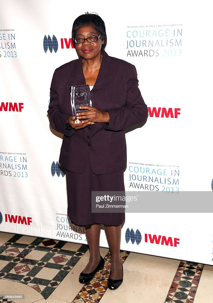 Honoree Edna Machirori attends the International Women's Media Foundation's 2013 Courage In Journalism awards at Cipriani 42nd Street on October 23, 2013 in New York City.