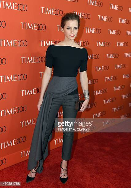 Honoree Emma Watson attends the Time 100 Gala celebrating the Time 100 issue of the Most Influential People at The World at Jazz at Lincoln Center on...
