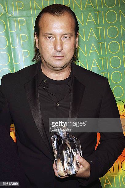 Honoree fashion designer Helmut Lang attend The Fashion Group International's 21st Annual Night of Stars at Cipriani's 42nd Street October 28 2004 in...