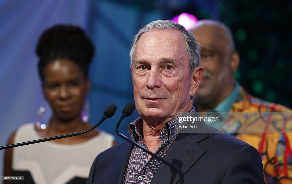 Honoree, former New York City Mayor, <a gi-track='captionPersonalityLinkClicked' href=/galleries/search?phrase=Michael+Bloomberg&family=editorial&specificpeople=171685 ng-click='$event.stopPropagation()'>Michael Bloomberg</a> attends the 15th annual Art for Life Gala hosted by Russell and Danny Simmons at Fairview Farms on July 26, 2014 in Water Mill, New York.