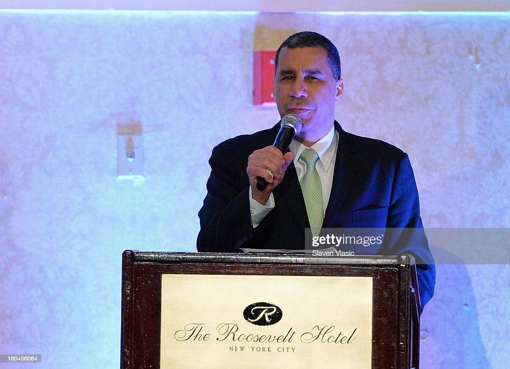 Honoree former New York Governor <a gi-track='captionPersonalityLinkClicked' href=/galleries/search?phrase=David+Paterson+-+American+Politician&family=editorial&specificpeople=3006680 ng-click='$event.stopPropagation()'>David Paterson</a> attends the 16th Annual Wall Street Project 'Access To Captial' luncheon at The Roosevelt Hotel on January 31, 2013 in New York City.