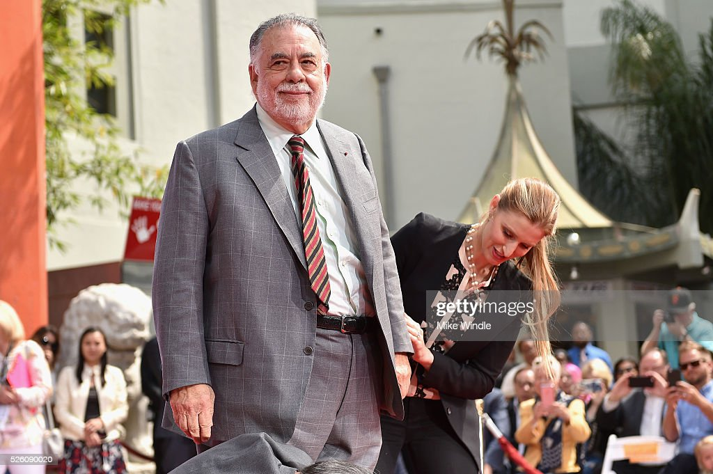 Honoree <a gi-track='captionPersonalityLinkClicked' href=/galleries/search?phrase=Francis+Ford+Coppola&family=editorial&specificpeople=204241 ng-click='$event.stopPropagation()'>Francis Ford Coppola</a> (L) and CEO of TCL Chinese Theatres Alwyn Hight Kushner attend the <a gi-track='captionPersonalityLinkClicked' href=/galleries/search?phrase=Francis+Ford+Coppola&family=editorial&specificpeople=204241 ng-click='$event.stopPropagation()'>Francis Ford Coppola</a> Hand and Footprint Ceremony during the TCM Classic Film Festival 2016 on April 29, 2016 in Los Angeles, California. 25826_008