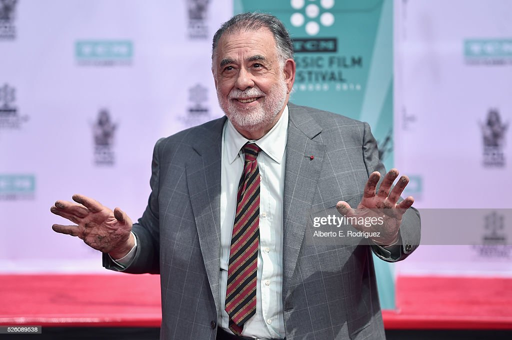 Honoree <a gi-track='captionPersonalityLinkClicked' href=/galleries/search?phrase=Francis+Ford+Coppola&family=editorial&specificpeople=204241 ng-click='$event.stopPropagation()'>Francis Ford Coppola</a> attends the <a gi-track='captionPersonalityLinkClicked' href=/galleries/search?phrase=Francis+Ford+Coppola&family=editorial&specificpeople=204241 ng-click='$event.stopPropagation()'>Francis Ford Coppola</a> Hand and Footprint Ceremony during the TCM Classic Film Festival 2016 on April 29, 2016 in Los Angeles, California. 25826_006