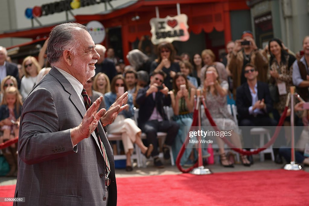 Honoree <a gi-track='captionPersonalityLinkClicked' href=/galleries/search?phrase=Francis+Ford+Coppola&family=editorial&specificpeople=204241 ng-click='$event.stopPropagation()'>Francis Ford Coppola</a> attends the <a gi-track='captionPersonalityLinkClicked' href=/galleries/search?phrase=Francis+Ford+Coppola&family=editorial&specificpeople=204241 ng-click='$event.stopPropagation()'>Francis Ford Coppola</a> Hand and Footprint Ceremony during the TCM Classic Film Festival 2016 on April 29, 2016 in Los Angeles, California. 25826_008