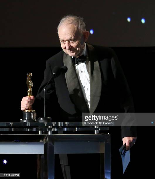 Honoree Frederick Wiseman accepts his award during the Academy of Motion Picture Arts and Sciences' 8th annual Governors Awards at The Ray Dolby...