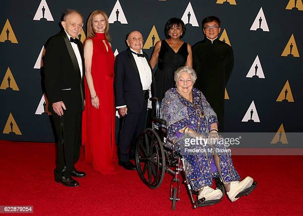Honoree Frederick Wiseman CEO of the Academy of Motion Picture Arts and Sciences Dawn Hudson honoree Lynn Stalmaster Academy President Cheryl Boone...