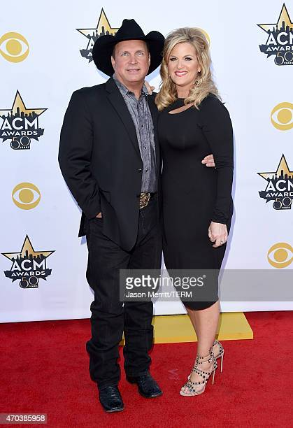 Honoree Garth Brooks and singer Trisha Yearwood attend the 50th Academy of Country Music Awards at ATT Stadium on April 19 2015 in Arlington Texas